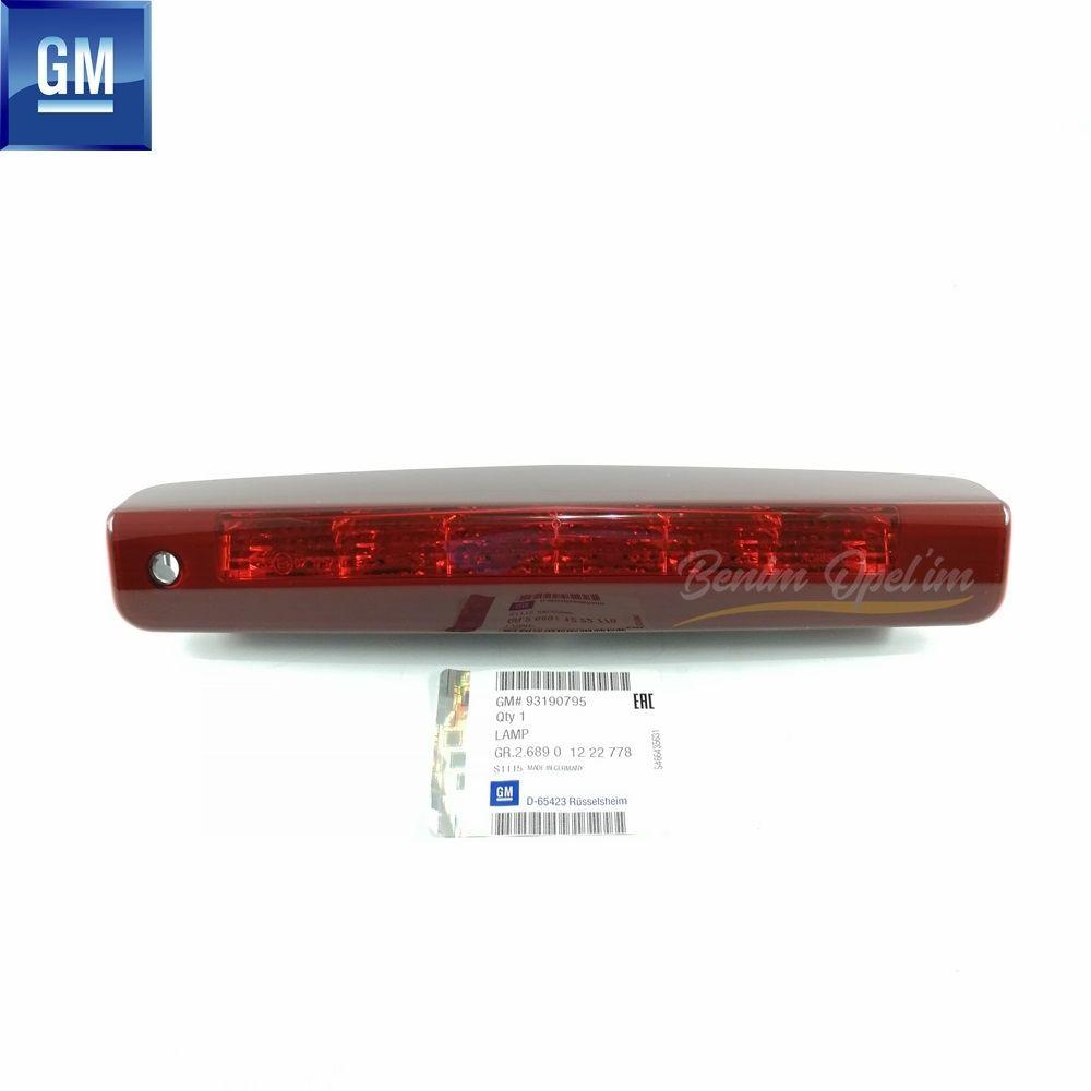 Opel Astra H HB Komple Arka Ek Stop Lambası Kırmızı GM Orijinal - 1222778  93190795 93184743 1222775 13252465